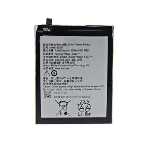 Original Lenovo K5 Note Battery Replacement BL261 3500mAh