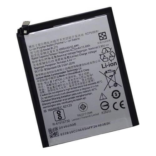 Original Lenovo K8 Plus Battery Replacement BL270 4000mAh