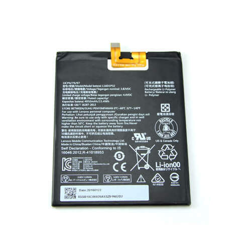 Original Lenovo Phab 2 Pro Battery Replacement L16D1P32 4050mAh