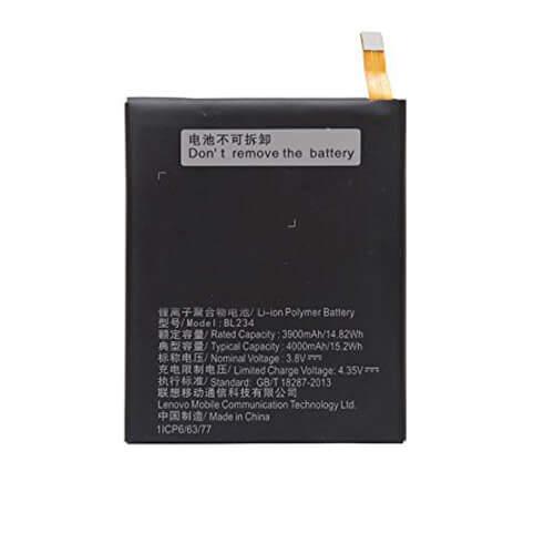 Original Lenovo Vibe P1 M Battery Replacement BL234 4000mAh