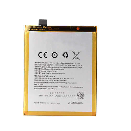 Original OnePlus 5T Battery Replacement 3300mAh BLP637