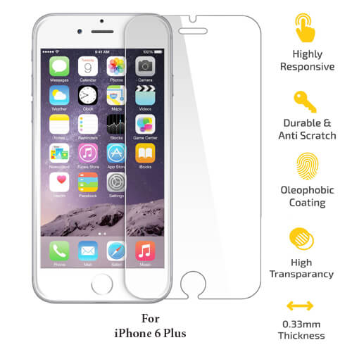 Apple iPhone 6 plus Tempered Glass Screen Guard
