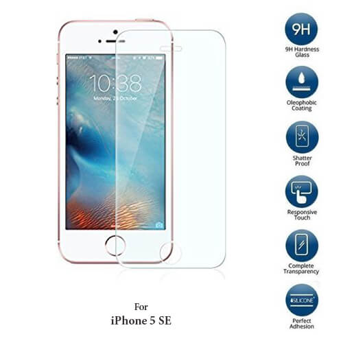 Apple iPhone SE Tempered Glass Screen Guard