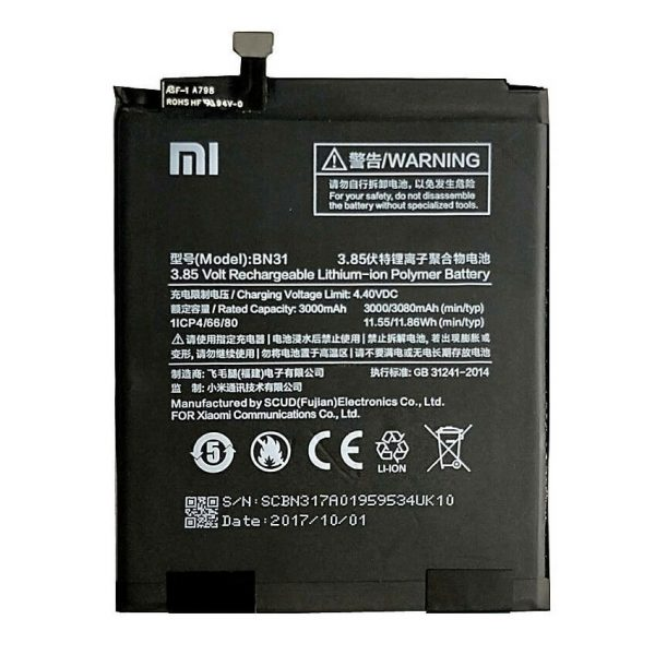 Original Xiaomi Redmi Y2 Battery Replacment BN31