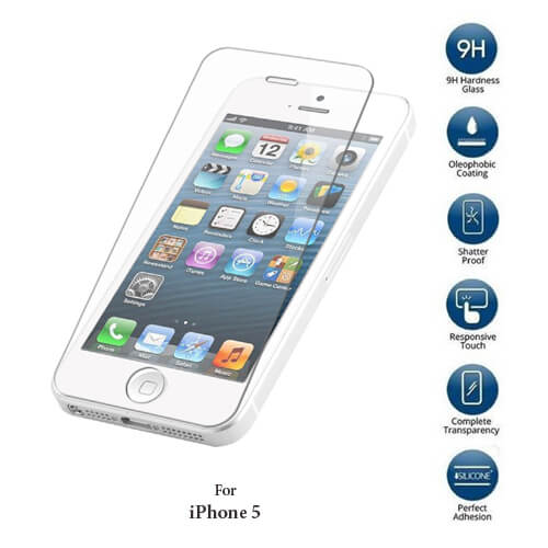 Apple iPhone 5 Tempered Glass screen protector