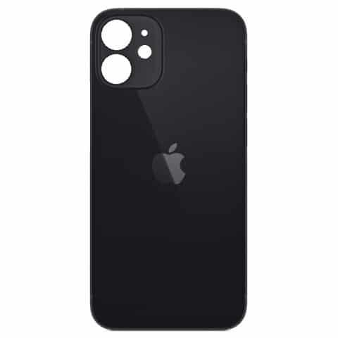 Apple iPhone 12 Mini Back Glass Rear Glass Back Cover Replacement - Black