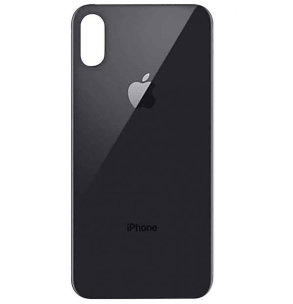 Apple iPhone X Back Glass Rear Glass Back Cover Replacement - Black