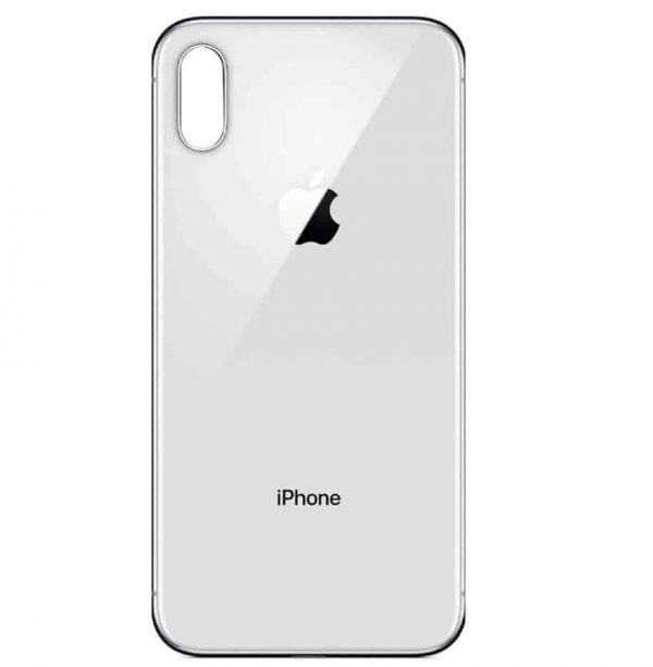 Apple iPhone Xs Back Glass Rear Glass Back Cover Replacement - White