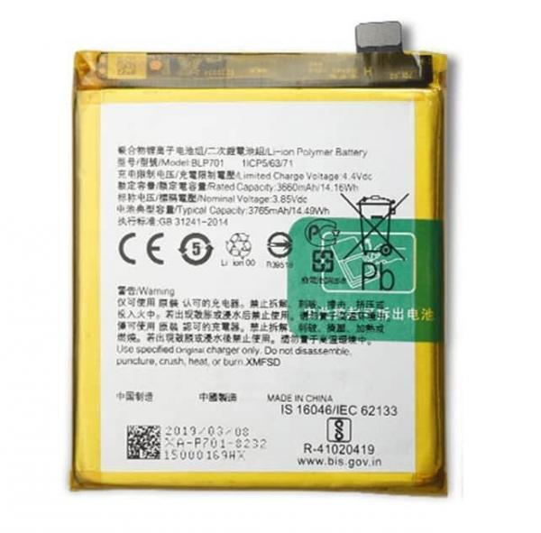 Oppo Reno Battery Replacement Price in India Chennai - BLP701
